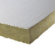 Insulation slab aluminum coated