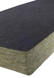 Insulation slab with veil