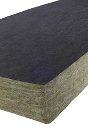 Insulation slab with veil